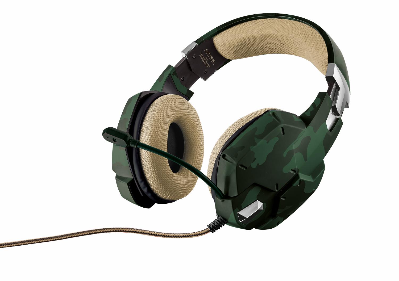 Trust GXT 322C, Green игровая гарнитура20865Наушники, внутренняя часть которых обшита сетчатым материалом, гибкий микрофон и мощные динамики для передачи низких частот. Амбушюры, покрытые специальным сетчатым материалом, обеспечивают комфорт даже после нескольких часов интенсивной игры Регулируемое оголовье и гибкий микрофон Регулятор громкости и кнопка отключения микрофона расположены непосредственно на наушниках Высококачественный звук с глубокими низкими частотами Незапутывающийся нейлоновый кабель в оплетке (2 м)