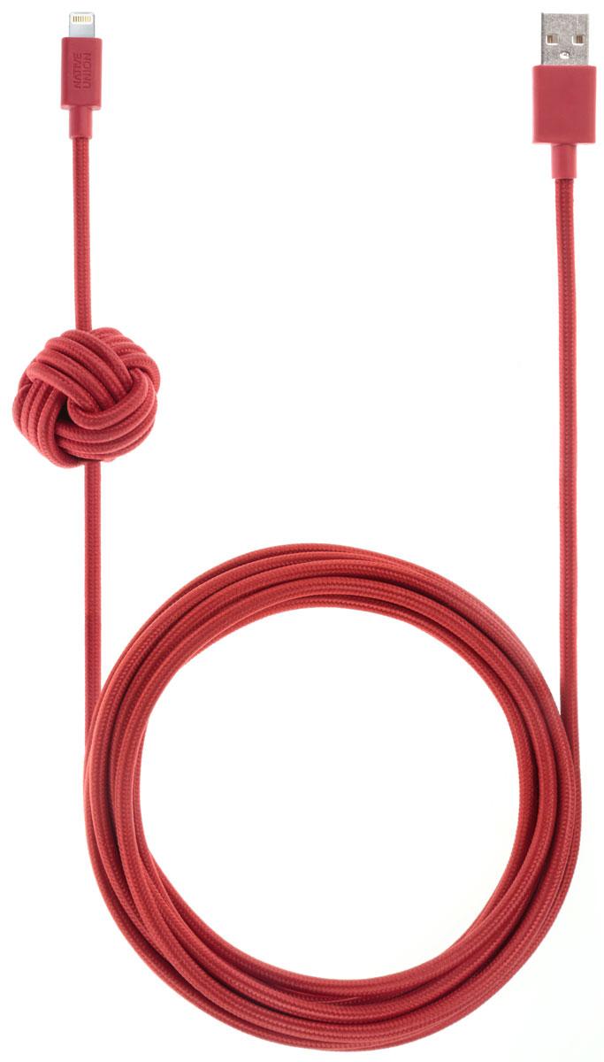 Native Union Night Cable, Red кабель Apple Lightning с фиксатором (3 м)NCABLE-L-REDNative Union Night Cable - это уникальный аксессуар, который создан с целью подчеркнуть вашу индивидуальность. Кабель длиной 3 метра - это супер практичный размер для дома: заряжайте и одновременно наслаждайтесь вашим смартфоном независимо от вашего положения. Кроме того удобство использования добавляет фиксатор - кабель всегда на виду и в удобном для вас месте. Технические характеристики безупречны: сертификация Apple MFI, не спутывается, не перекручивается, не ломается. Сверх износостойкий, благодаря тканевой оплетки из нейлона. Native Union - это абсолютно новый взгляд на зарядные провода.