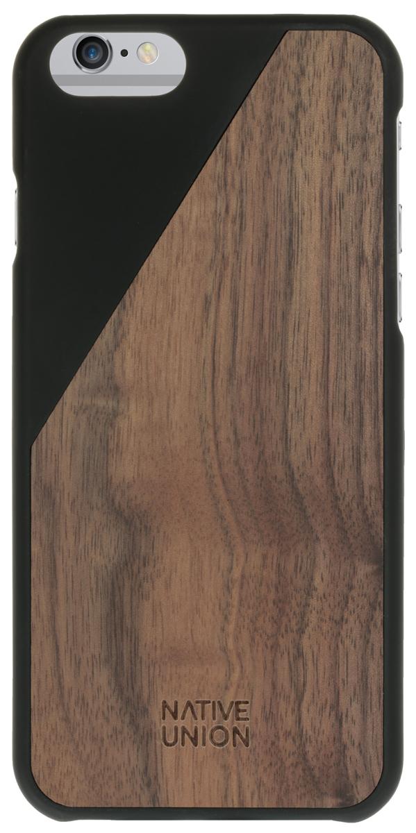 Native Union CLIC Wooden чехол из натурального дерева для iPhone 6 Plus/6s Plus, BlackCLIC-BLK-WD-6PКаждый чехол неповторим и уникален. Натуральная древесина обрабатывается вручную, сохраняется естественная фактура, невероятно приятные тактильные ощущения. Использована твердая древесина вишневого дерева и дерева грецкого ореха. Благородные редкие материалы – у вас аксессуар действительно премиум класса. Clic Woodeen удивительно тонкий и легкий – идеально подстраивается под телефон, практически не увеличивая его в размерах. В этом чехле ваш телефон - индивидуальность, также как и вы сами.