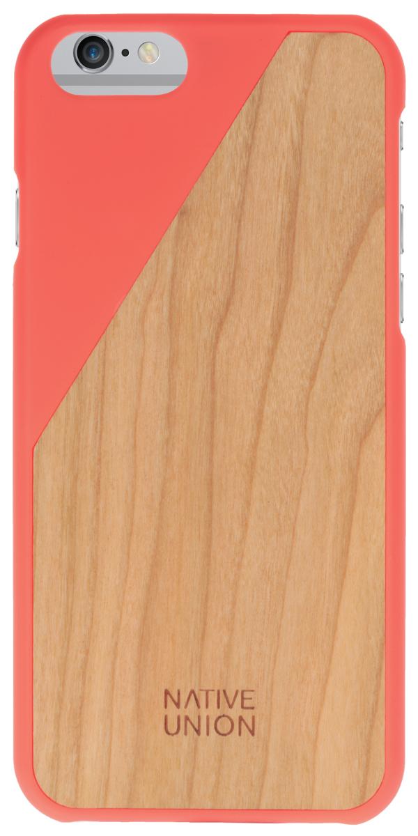 Native Union Clic Wooden чехол из натурального дерева для Apple iPhone 6/6s, CoralCLIC-COR-WD-6Каждый чехол Native Union CLIC Wooden неповторим и уникален. Натуральная древесина обрабатывается вручную, сохраняется естественная фактура, невероятно приятные тактильные ощущения. Использована твердая древесина вишневого дерева и дерева грецкого ореха. Благородные редкие материалы - у Вас аксессуар действительно премиум класса. Clic Woodeen удивительно тонкий и легкий он спроектирован таким образом, что совсем не утолщает ваш iPhone, но в разы увеличивает его степень защиты. В этом чехле Ваш телефон - индивидуальность, также как и Вы сами.