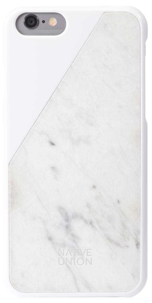 Native Union CLIC Marble мраморный чехол для iPhone 6/6s, WhiteCLIC-WHT-MB-6Роскошный аксессуар, первый чехол в мире из натурального мрамора. Каждый чехол обрабатывается вручную, что позволяет сохранить уникальный мраморный узор. Чехол невероятно прочный, стойкий к появлению сколов и царапин, благодаря специальной шлифовке. Приятные тактильные ощущения в комплексе с эксклюзивной защитой.