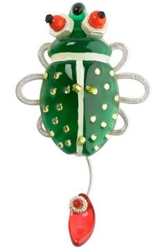 Брошь Lalo Treasures MinB, цвет: зеленый. 17361736Яркие дизайнерские акссесуары от Lalo Treasures станут отличным дополнением к Вашему стилю