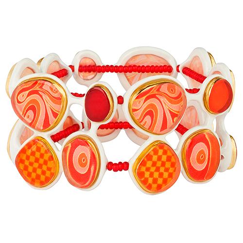 Браслет Lalo Treasures Dragonfly IV, цвет: красный. B2544-2B2544-2Яркие дизайнерские акссесуары от Lalo Treasures станут отличным дополнением к Вашему стилю