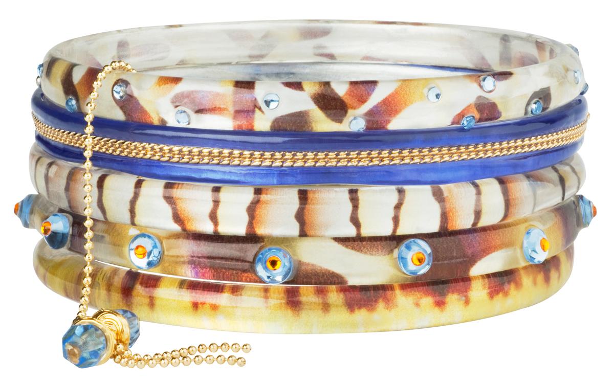 Браслет Lalo Treasures Transcend III, цвет: бежевый, голубой. Bn2522-1Bn2522-1Яркие дизайнерские акссесуары от Lalo Treasures станут отличным дополнением к Вашему стилю