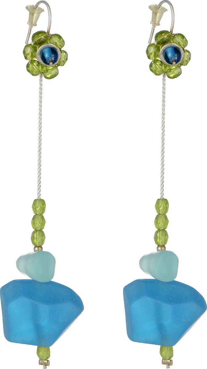 Серьги Lalo Treasures Mon Amour, цвет: голубой, зеленый. E3461-3E3461-3Оригинальные серьги Lalo Treasures Mon Amour изготовлены из металлического сплава, дополнены подвесками с декоративными элементами из ювелирной смолы. Изделие оснащено замком-петлей с заглушками, который надежно зафиксирует серьги. Стильные серьги Lalo Treasures Mon Amour не оставят равнодушной ни одну любительницу изысканных украшений и помогут создать собственный неповторимый образ.