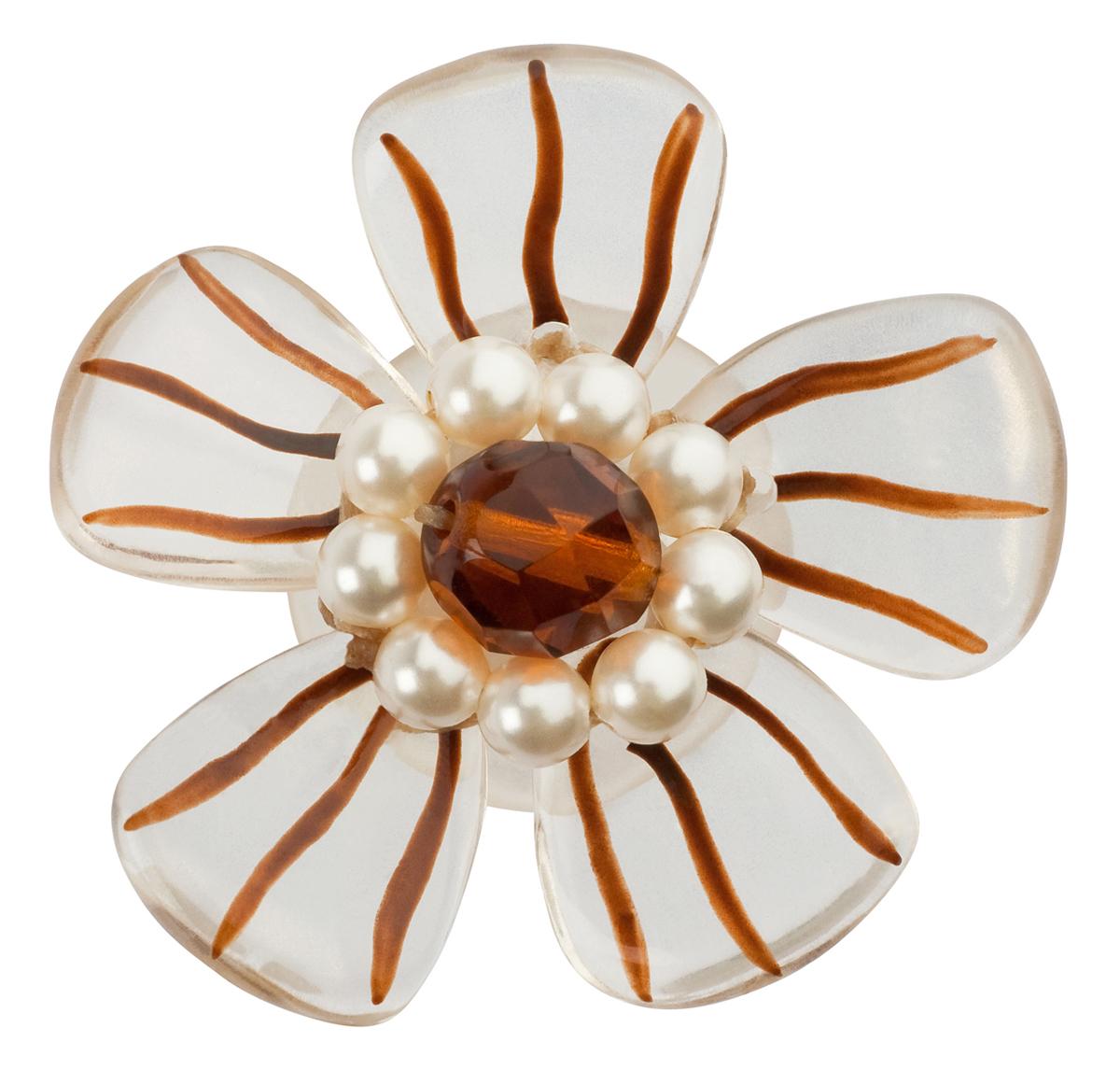 Клипсы Lalo Treasures Autumn, цвет: белый, коричневый. E3484-2E3484-2Яркие дизайнерские акссесуары от Lalo Treasures станут отличным дополнением к Вашему стилю