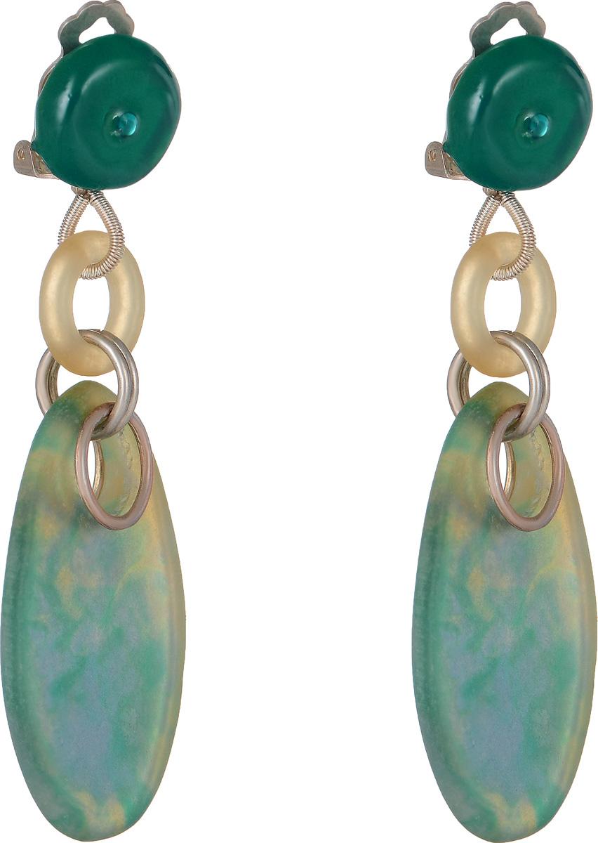 Клипсы Lalo Treasures Row цвет: зеленый, голубой. E3504-1E3504-1Оригинальные серьги Lalo Treasures Row изготовлены из металлического сплава, дополнены декоративными элементами из ювелирной смолы. Изделие оснащено клипсой, которая надежно зафиксирует серьги. Стильные серьги не оставят равнодушной ни одну любительницу изысканных украшений и помогут создать собственный неповторимый образ.