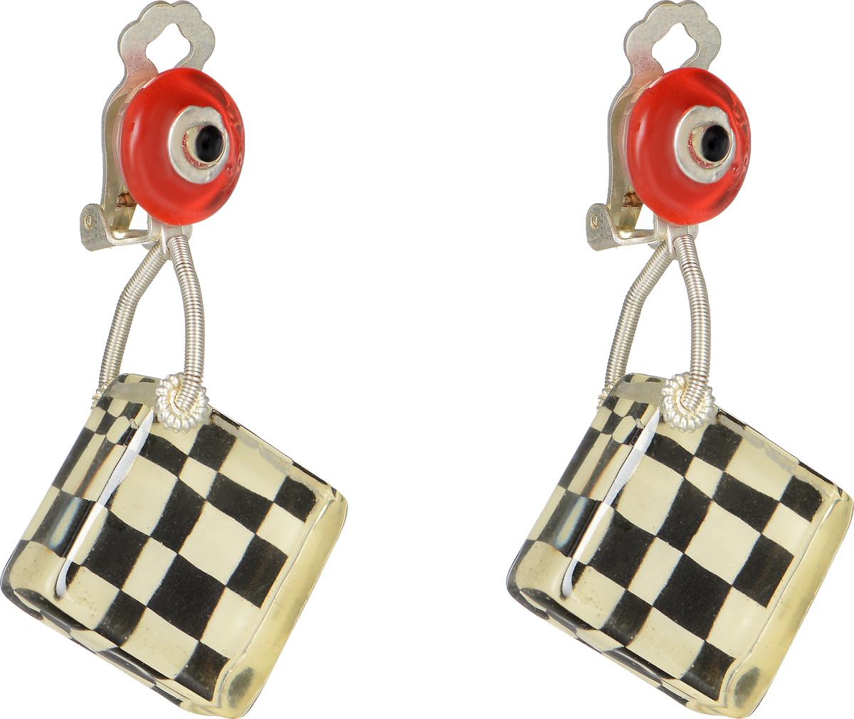 Клипсы Lalo Treasures Row цвет: черный, белый, красный. E3510-3E3510-3Оригинальные серьги Lalo Treasures Row изготовлены из металлического сплава, дополнены декоративными элементами из ювелирной смолы. Изделие оснащено клипсой, которая надежно зафиксирует серьги. Стильные серьги не оставят равнодушной ни одну любительницу изысканных украшений и помогут создать собственный неповторимый образ.