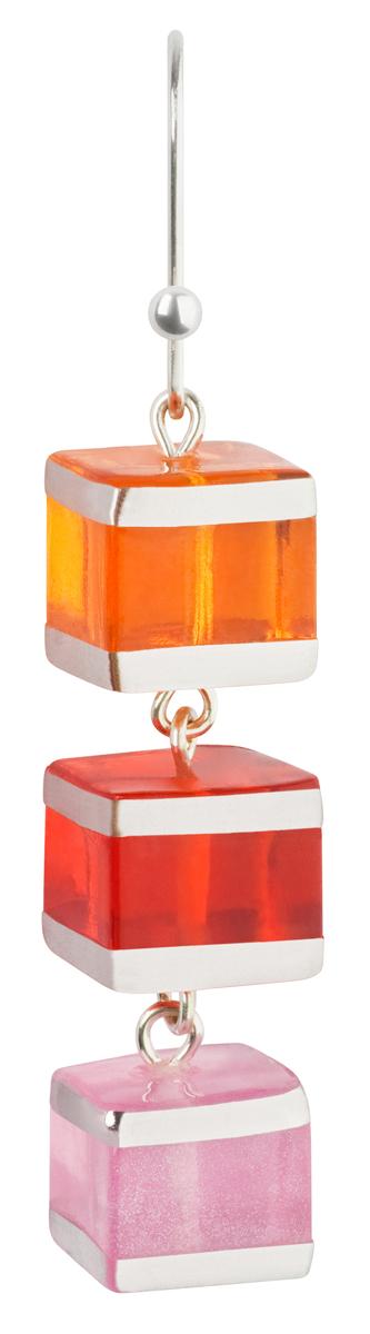 Серьги Lalo Treasures Revolution III, цвет: красный, оранжевый. E3526-1E3526-1Яркие дизайнерские акссесуары от Lalo Treasures станут отличным дополнением к Вашему стилю