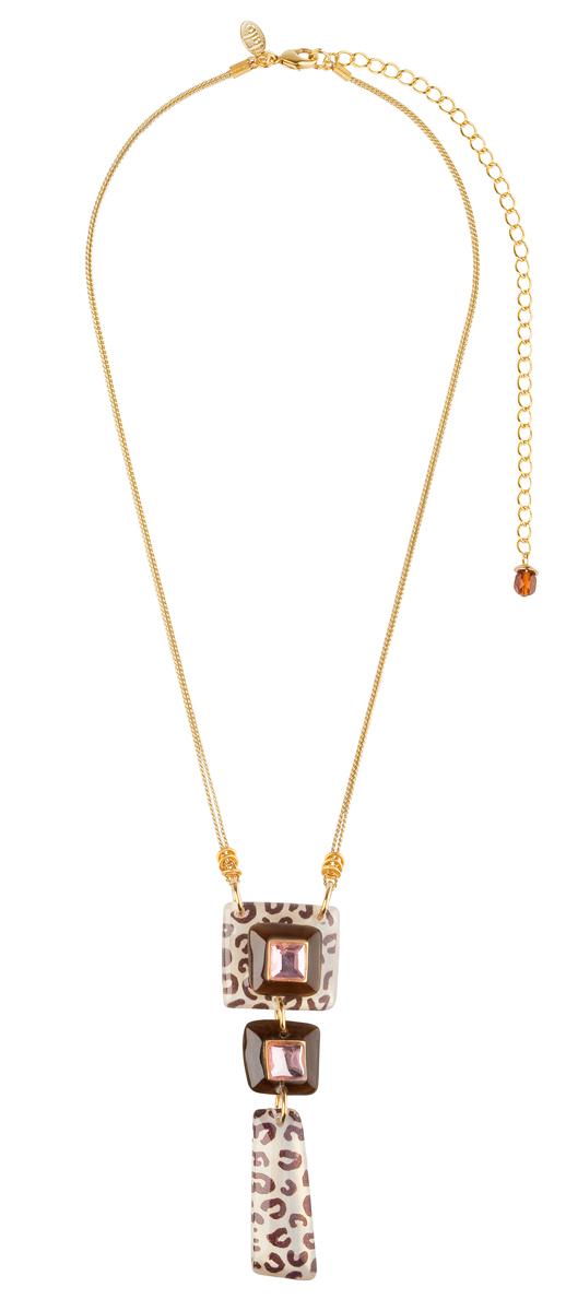 Кулон Lalo Treasures Autumn, цвет: коричневый. P4485-2P4485-2Яркие дизайнерские акссесуары от Lalo Treasures станут отличным дополнением к Вашему стилю
