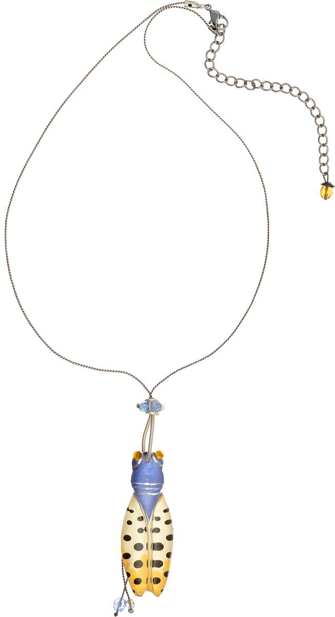 Кулон Lalo Treasures, цвет: бежевый, голубой, серый. P4503-1P4503-1Яркий дизайнерский кулон Lalo Treasures станет отличным дополнением к вашему стилю. Кулон изготовлен из качественной ювелирной смолы и металлического сплав. Декоративная часть кулона выполнена в виде насекомого. Кулон застегивается на замок-карабин, а длина регулируется с помощью звеньев. Интересный дизайн кулона подчеркнет ваш образ и позволит вам быть оригинальной и изящной.