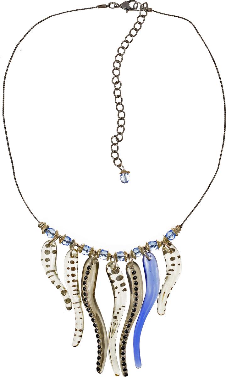 Кулон Lalo Treasures, цвет: серый, синий. P4503-2P4503-2Яркий дизайнерский кулон Lalo Treasures станет отличным дополнением к вашему стилю. Кулон изготовлен из качественной ювелирной смолы и металлического сплава. Декоративная часть кулона выполнена в виде композиции из брусков разной формы в сером и синем цвете, украшенных вставками со стразами. Кулон застегивается на замок-карабин, а длина регулируется с помощью звеньев. Интересный дизайн кулона подчеркнет ваш образ и позволит вам быть оригинальной и изящной.