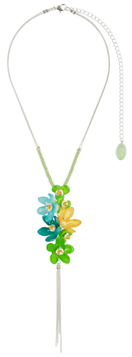 Кулон Lalo Treasures ROW, цвет: зеленый, голубой. P4506P4506Яркие дизайнерские акссесуары от Lalo Treasures станут отличным дополнением к Вашему стилю