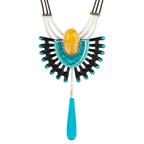 Кулон Lalo Treasures Dragonfly I, цвет: синий. P4531-1P4531-1Яркие дизайнерские акссесуары от Lalo Treasures станут отличным дополнением к Вашему стилю