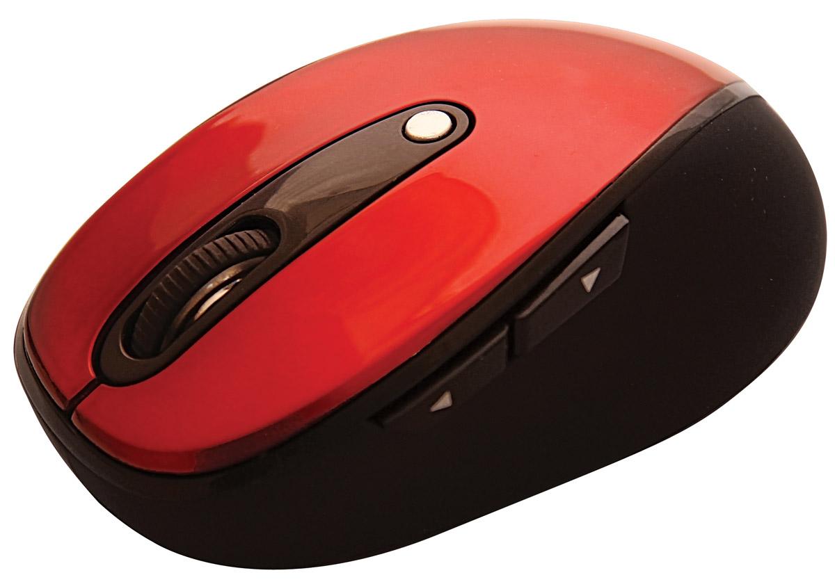 Ritmix RMW-220, Red мышь15116717Ritmix RMW-220 – беспроводная оптическая мышь, оснащённая пятью кнопками и колесом прокрутки. Высокое разрешение сенсора (предусмотрено три режима на выбор) идеально подходит как для работы с офисными приложениями, так и для игр.
