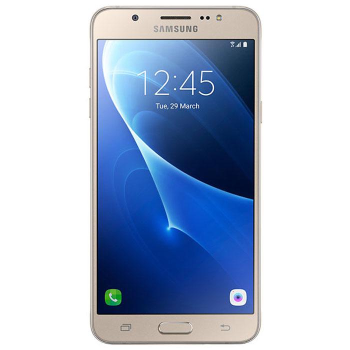 Samsung SM-J710FN Galaxy J7, GoldSM-J710FZDUSERSamsung SM-J710FN Galaxy J7 - элегантный и надежный смартфон в цельнометаллическом корпусе. Сюжеты из вашей жизни в наилучшем виде Светосильные (F1.9) объективы камер на лицевой и задней панелях - гарантия ярких и четких снимков даже при низкой освещенности. Двойное нажатие кнопки Домой мгновенно активирует режим фотосъемки. Светодиодная (LED) вспышка и режим Beauty обеспечат великолепное качество изображения, а режим Управление жестами сделают это за считанные секунды. Вся информация с одного взгляда Мгновенный доступ ко всей важной информации, включая состояние аккумулятора, объем доступной памяти и состояние системы безопасности. Режим энергосбережения Эффективный режим энергосбережения продлит работу смартфона. Телефон сертифицирован Ростест и имеет русифицированный интерфейс меню, а также Руководство пользователя.