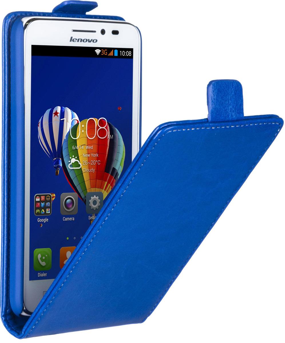Skinbox Flip Case чехол для Lenovo A606, Blue2000000058542Чехол Skinbox Flip Case для Lenovo A606 выполнен из высококачественного поликарбоната и экокожи. Он обеспечивает надежную защиту корпуса и экрана смартфона и надолго сохраняет его привлекательный внешний вид. Чехол также обеспечивает свободный доступ ко всем разъемам и клавишам устройства.