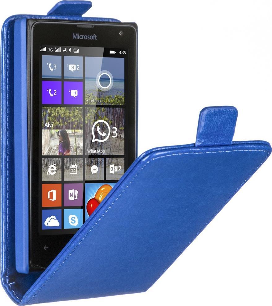Skinbox Flip Case чехол для Microsoft Lumia 435/532, Blue2000000059044Чехол Skinbox 4People для Microsoft Lumia 435/532 выполнен из качественных материалов, плотно прилегает к устройству и не скользит в руках. Он обеспечивает надежную защиту корпуса и экрана смартфона и надолго сохраняет его привлекательный внешний вид. Чехол также обеспечивает свободный доступ ко всем разъемам и клавишам устройства.
