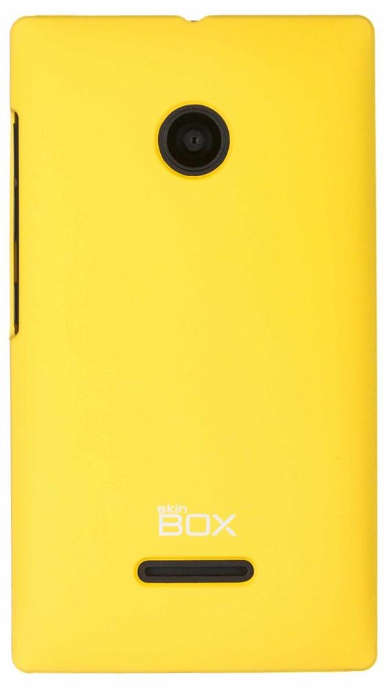 Skinbox 4People чехол для Microsoft Lumia 435, Yellow2000000061405Чехол Skinbox 4People для Microsoft Lumia 435 выполнен из высококачественного поликарбоната, плотно прилегает и не скользит в руках.. Он обеспечивает надежную защиту корпуса и экрана смартфона и надолго сохраняет его привлекательный внешний вид. Чехол также обеспечивает свободный доступ ко всем разъемам и клавишам устройства.