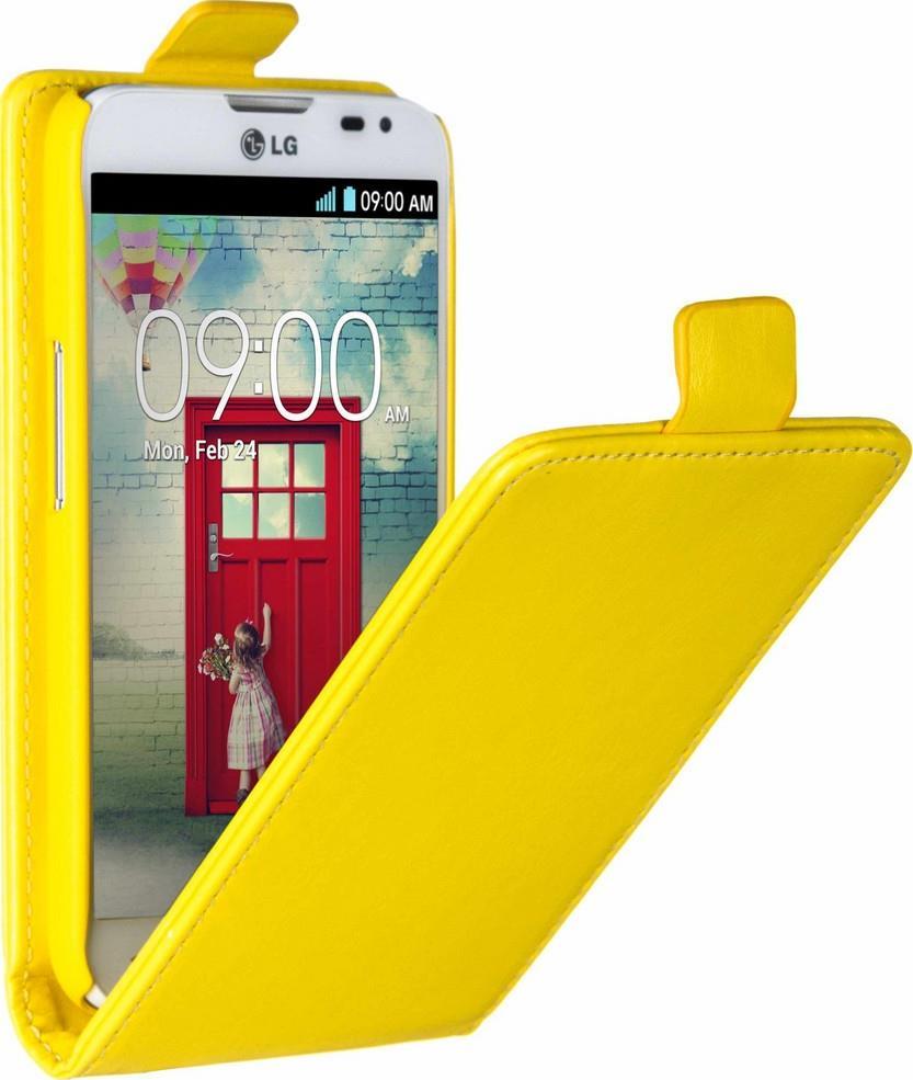 Skinbox Flip Case чехол для LG L70, Yellow2000000062495Чехол Skinbox Flip Case для LG L70 выполнен из высококачественного поликарбоната и экокожи. Он обеспечивает надежную защиту корпуса и экрана смартфона и надолго сохраняет его привлекательный внешний вид. Чехол также обеспечивает свободный доступ ко всем разъемам и клавишам устройства.