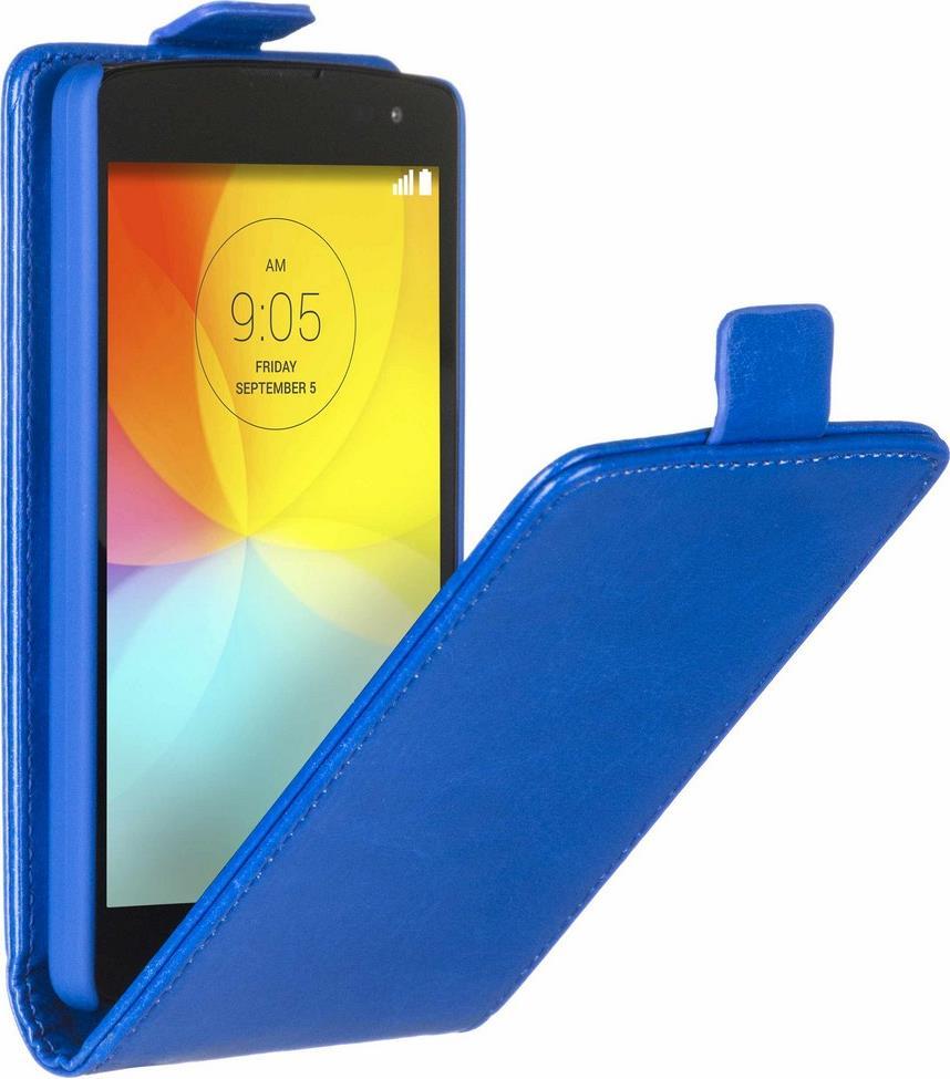 Skinbox Flip Case чехол для LG Fino, Blue2000000062549Чехол Skinbox Flip Case для LG Fino выполнен из высококачественного поликарбоната и экокожи. Он обеспечивает надежную защиту корпуса и экрана смартфона и надолго сохраняет его привлекательный внешний вид. Чехол также обеспечивает свободный доступ ко всем разъемам и клавишам устройства.