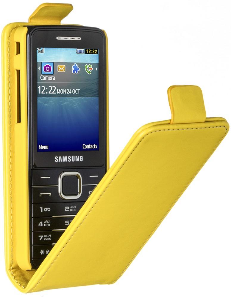 Skinbox Flip Case чехол для Samsung S5610/5611, Yellow2000000062709Чехол Skinbox Flip Case для Samsung S5610/5611 выполнен из высококачественного поликарбоната и экокожи. Он обеспечивает надежную защиту корпуса и экрана смартфона и надолго сохраняет его привлекательный внешний вид. Чехол также обеспечивает свободный доступ ко всем разъемам и клавишам устройства.