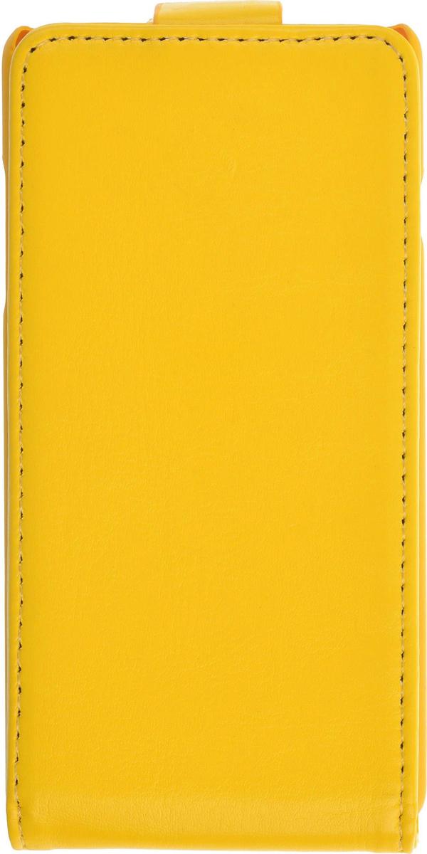Skinbox Flip Case чехол для ZTE v815W, Yellow2000000075822Чехол Skinbox Flip Case для ZTE v815W выполнен из высококачественного поликарбоната и экокожи. Он обеспечивает надежную защиту корпуса и экрана смартфона и надолго сохраняет его привлекательный внешний вид. Чехол также обеспечивает свободный доступ ко всем разъемам и клавишам устройства.