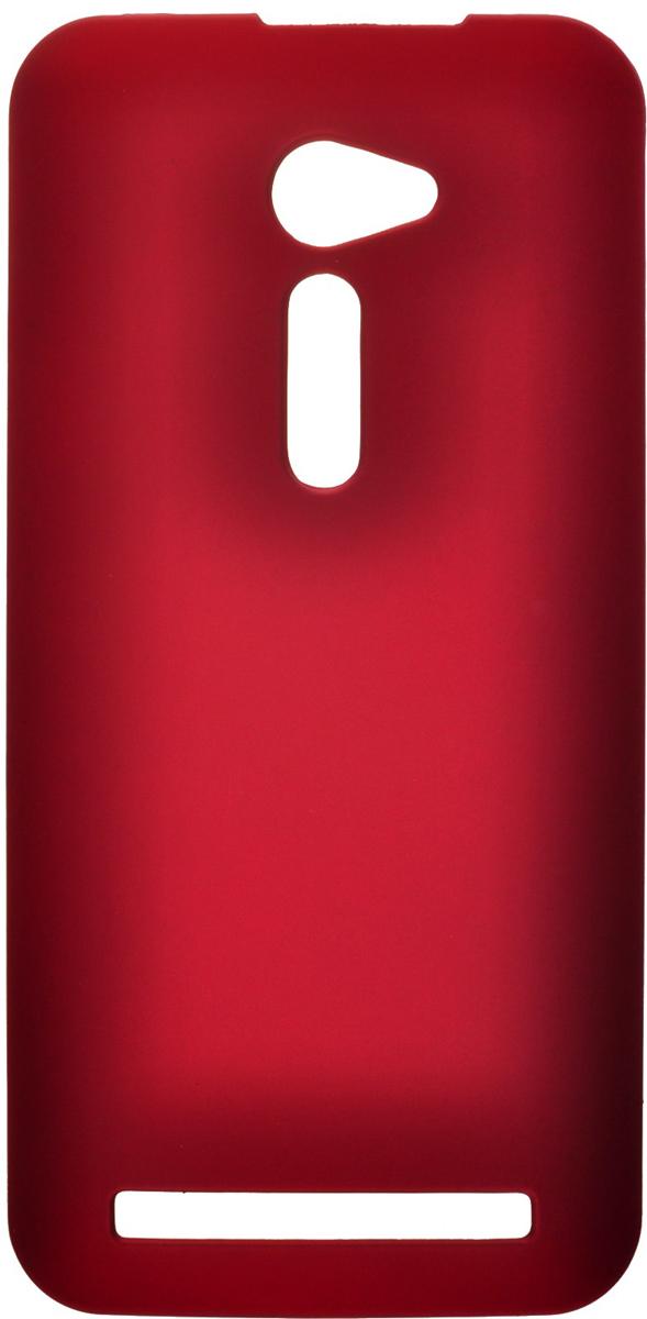Skinbox 4People чехол для Asus Zenfone 2 (ZE500CL), Red2000000079172Чехол-накладка Skinbox 4People для Asus ZenFone 2 (ZE500CL) бережно и надежно защитит ваш смартфон от пыли, грязи, царапин и других повреждений. Обеспечивает свободный доступ ко всем разъемам и элементам управления.