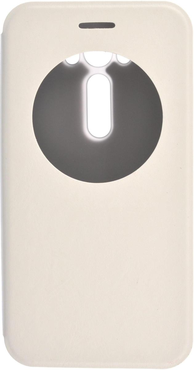 Skinbox Lux AW чехол для Asus Zenfone Laser 2 ZE500KL/ZE500KG, White2000000079592Чехол Skinbox Lux AW выполнен из высококачественного поликарбоната и экокожи. Он обеспечивает надежную защиту корпуса и экрана смартфона и надолго сохраняет его привлекательный внешний вид. Чехол также обеспечивает свободный доступ ко всем разъемам и клавишам устройства.