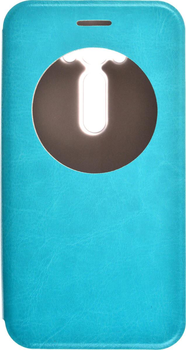 Skinbox Lux AW чехол для Asus Zenfone Laser 2 ZE500KL/ZE500KG, Blue2000000079622Чехол Skinbox Lux AW выполнен из высококачественного поликарбоната и экокожи. Он обеспечивает надежную защиту корпуса и экрана смартфона и надолго сохраняет его привлекательный внешний вид. Чехол также обеспечивает свободный доступ ко всем разъемам и клавишам устройства.