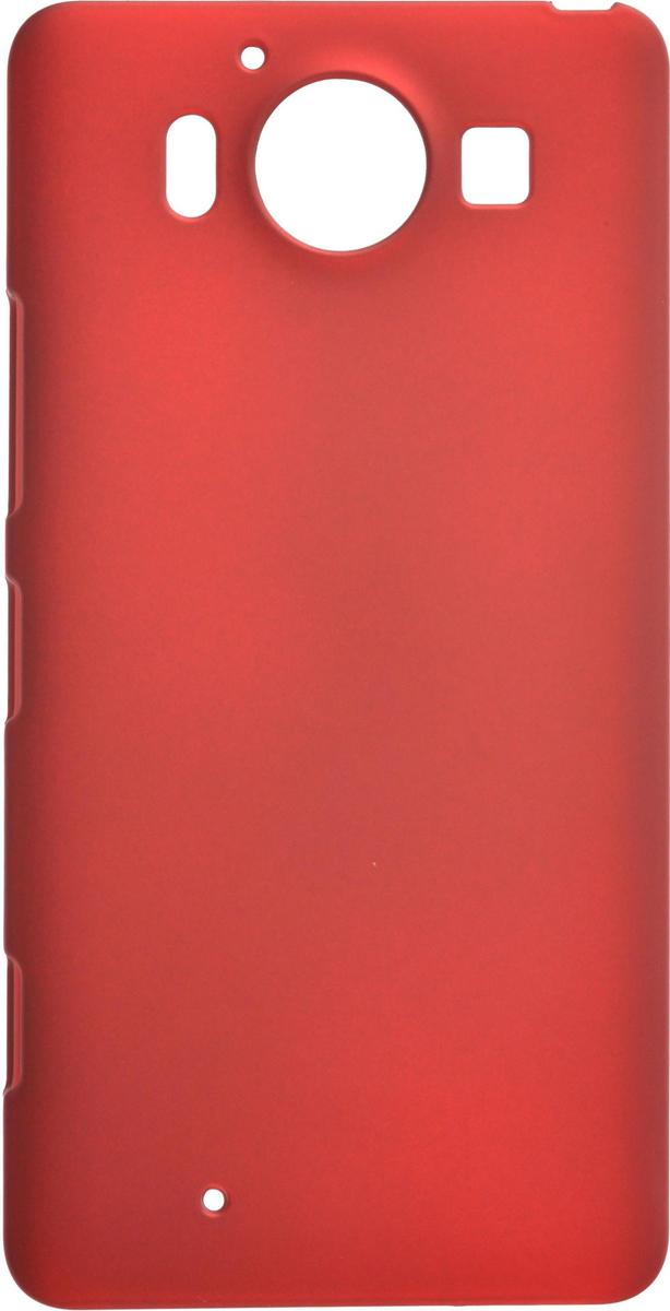 Skinbox 4People чехол для Microsoft Lumia 950, Red2000000081984Чехол-накладка Skinbox 4People для Microsoft Lumia 950 бережно и надежно защитит ваш смартфон от пыли, грязи, царапин и других повреждений. Выполнена из высококачественного поликарбоната, плотно прилегает и не скользит в руках. Чехол-накладка оставляет свободным доступ ко всем разъемам и кнопкам устройства.