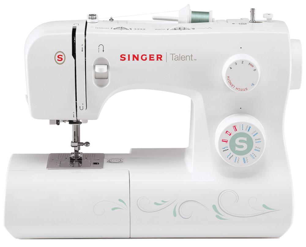 Singer Talent 3321 швейная машинаTalent3321Электромеханическая швейная машина Singer Talent 3321 оснащена горизонтальным челноком, а также имеет большой набор строчек, и умеет делать все основные швейные операции. Данная модель оснащена нитевдевателем и отлично подойдет для обучения шитью, шитья и ремонта одежды, шитья предметов домашнего обихода и для других подобных работ. Основные особенности: Быстрая и простая замена прижимной лапки Металлическая станина Рукавная платформа Горизонтальный вращающийся челнок Высокий подъем лапки для шитья толстых тканей