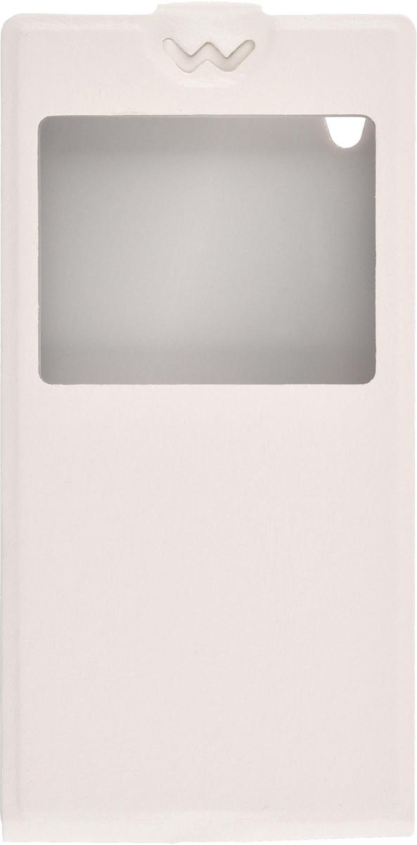 Skinbox Flip Slim AW чехол для Sony Xperia Z5, White2000000083384Чехол выполнен из высококачественной экокожи и поликарбоната