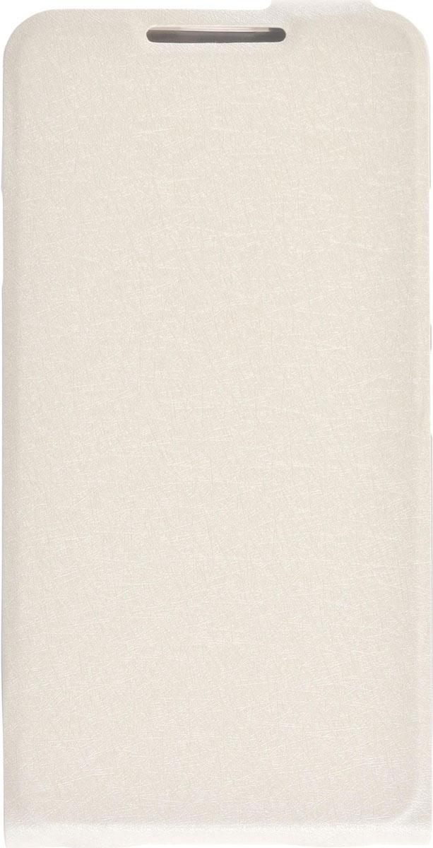 Skinbox Flip Slim чехол для Lenovo P1 mini, White2000000083537Чехол выполнен из высококачественной экокожи и поликарбоната