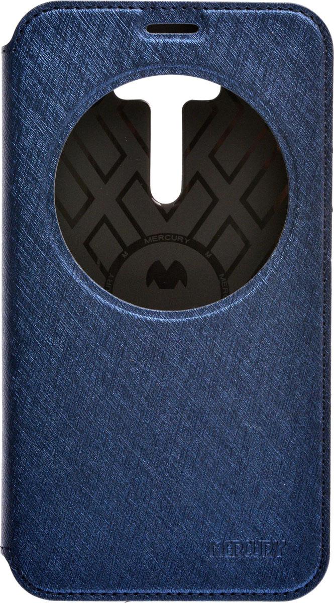 Mercury AW чехол для Asus Zenfone Laser 2 ZE550KL, Blue2000000084053Чехол Mercury AW выполнен из высококачественной искусственной кожи и поликарбоната. Он отлично справляется с защитой корпуса смартфона от механических повреждений и надолго сохраняет привлекательный внешний вид устройства. Чехол также обеспечивает свободный доступ ко всем разъемам и клавишам устройства.