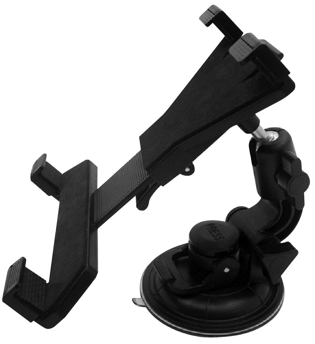 Держатель для планшета автомобильный Zipower. PM 6611PM 6611Универсальный держатель Zipower подходит не только для планшетов, но и для телефонов, смартфонов, навигаторов. Раздвижная конструкция позволяет регулировать необходимую высоту захвата. Предназначен для установки на лобовое стекло автомобиля. Особенности: Выполнен из высококачественного материала PC + ABS. Совместим с iPad и другими планшетами PC/GPS. Держатель легко устанавливается и подходит для любого автомобиля. Регулируемый поворот на 360°. Противоскользящий коврик. Высота захвата: 105–195 мм.