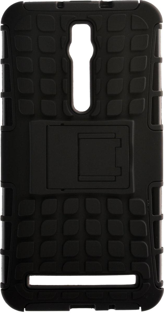 Skinbox Defender чехол для Asus ZenFone 2 ZE550ML/551ML, Black2000000084275Накладка выполнена из высококачественного поликарбоната, плотно прилегает и не скользит в руках.