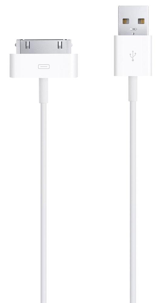 Apple Dock Connector для iPod/iPhone/iPad USB-кабельMA591ZM/CЭтот кабель USB 2.0 создан для подключения iPod, iPhone или iPad с разъёмом 30 pin (напрямую или через док- станцию) к порту USB на компьютере для эффективной синхронизации и подзарядки, либо к адаптеру питания Apple USB для удобной подзарядки напрямую от настенной розетки. Особенности: Доступ ко всем элементам управления и к разъёму для док-станции Удобная компактная форма Позволяет заряжать устройство в чехле