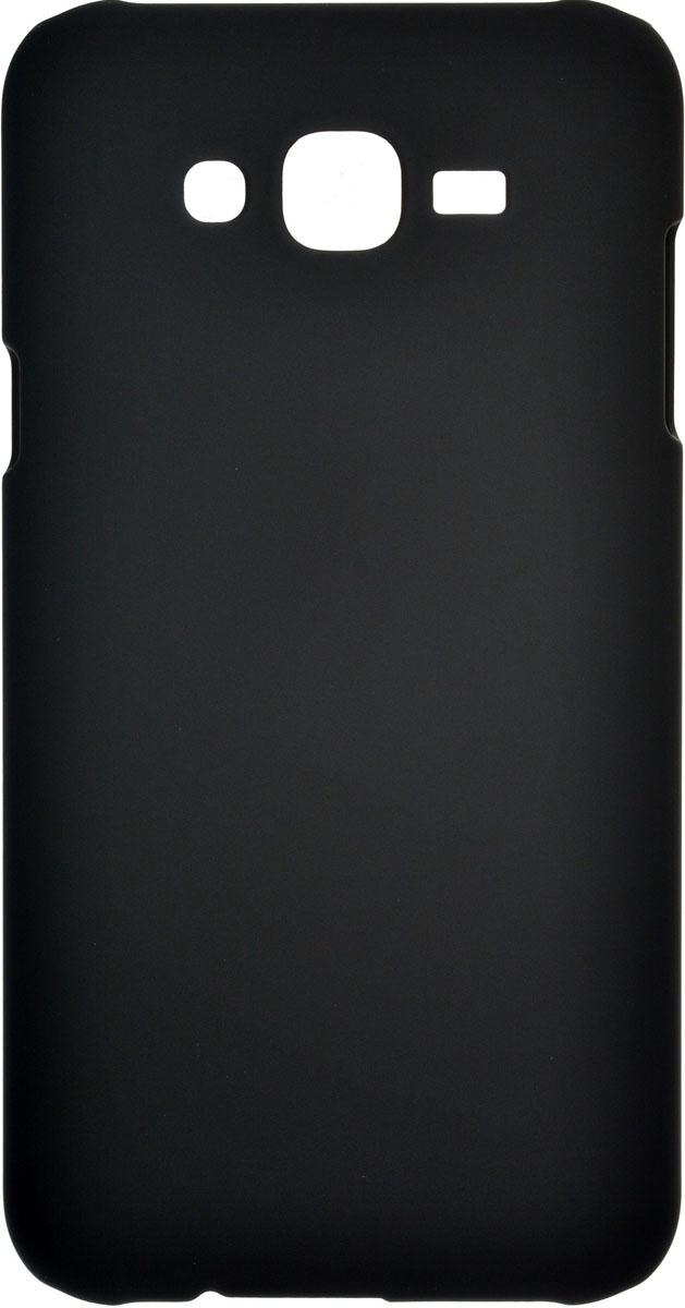 Skinbox 4People чехол для Samsung Galaxy J7, Black2000000085128Чехол-накладка Skinbox 4People для Samsung Galaxy J7 бережно и надежно защитит ваш смартфон от пыли, грязи, царапин и других повреждений. Выполнена из высококачественного поликарбоната, плотно прилегает и не скользит в руках. Чехол-накладка оставляет свободным доступ ко всем разъемам и кнопкам устройства.