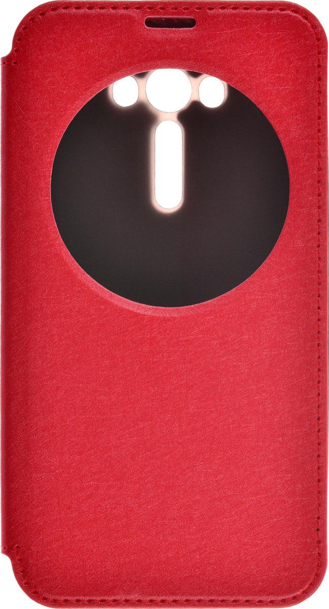 Skinbox MS AW чехол для Asus Zenfone Laser 2 ZE550KL, Red2000000086989Чехол Skinbox MS AW выполнен из высококачественного поликарбоната и экокожи. Он обеспечивает надежную защиту корпуса и экрана смартфона и надолго сохраняет его привлекательный внешний вид. Чехол также обеспечивает свободный доступ ко всем разъемам и клавишам устройства.