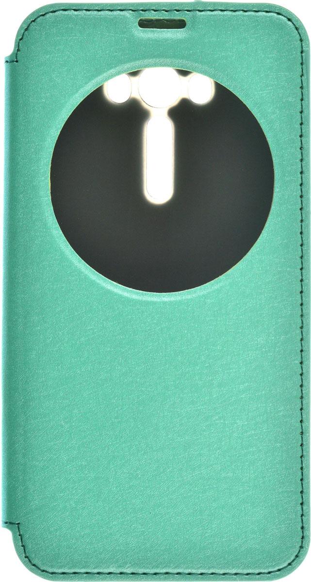 Skinbox MS AW чехол для Asus Zenfone Laser 2 ZE550KL, Green2000000086996Чехол Skinbox MS AW выполнен из высококачественного поликарбоната и экокожи. Он обеспечивает надежную защиту корпуса и экрана смартфона и надолго сохраняет его привлекательный внешний вид. Чехол также обеспечивает свободный доступ ко всем разъемам и клавишам устройства.