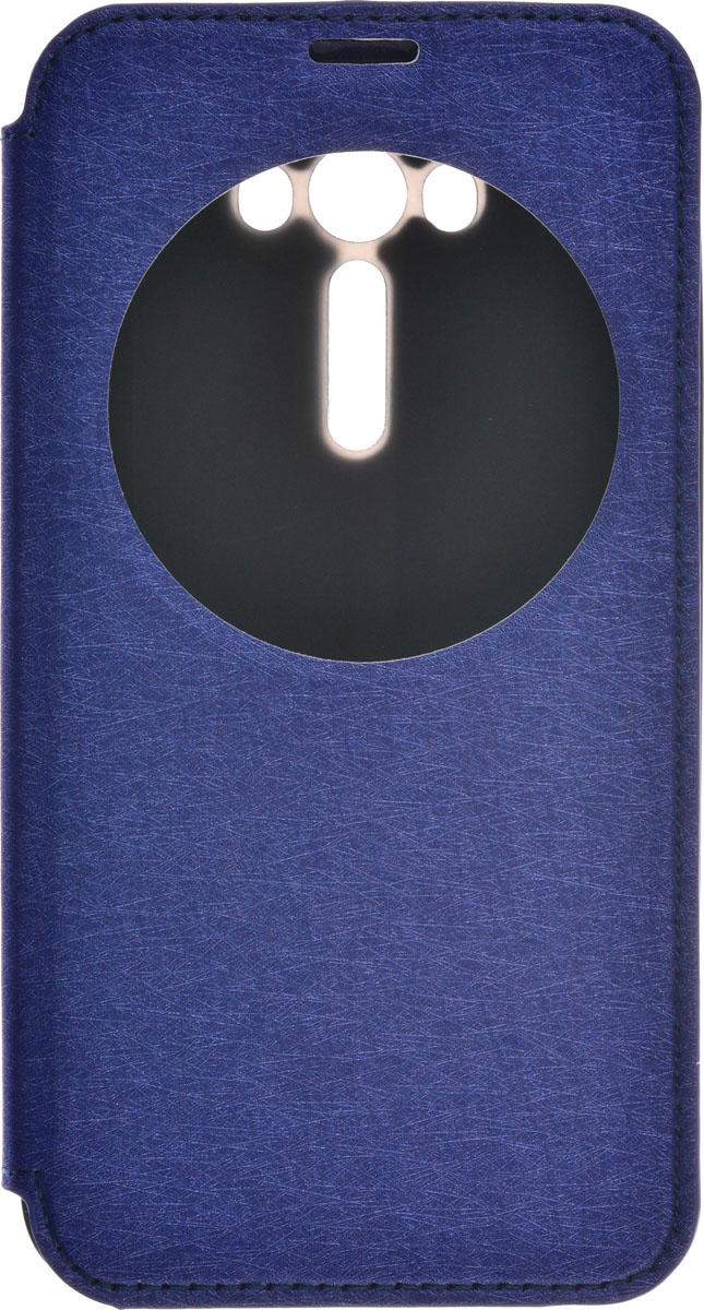 Skinbox MS AW чехол для Asus Zenfone Laser 2 ZE550KL, Blue2000000087009Чехол Skinbox MS AW выполнен из высококачественного поликарбоната и экокожи. Он обеспечивает надежную защиту корпуса и экрана смартфона и надолго сохраняет его привлекательный внешний вид. Чехол также обеспечивает свободный доступ ко всем разъемам и клавишам устройства.