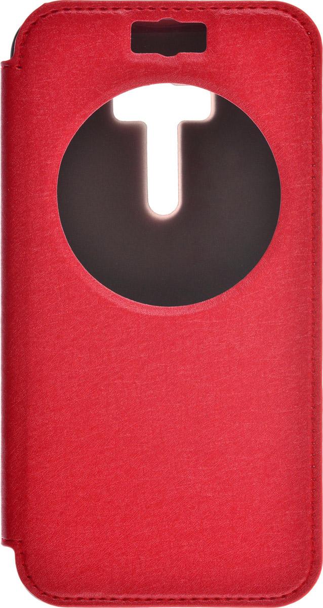 Skinbox MS AW чехол для Asus Zenfone Selfie ZD551KL, Red2000000087238Чехол Skinbox MS AW выполнен из высококачественного поликарбоната и экокожи. Он обеспечивает надежную защиту корпуса и экрана смартфона и надолго сохраняет его привлекательный внешний вид. Чехол также обеспечивает свободный доступ ко всем разъемам и клавишам устройства.