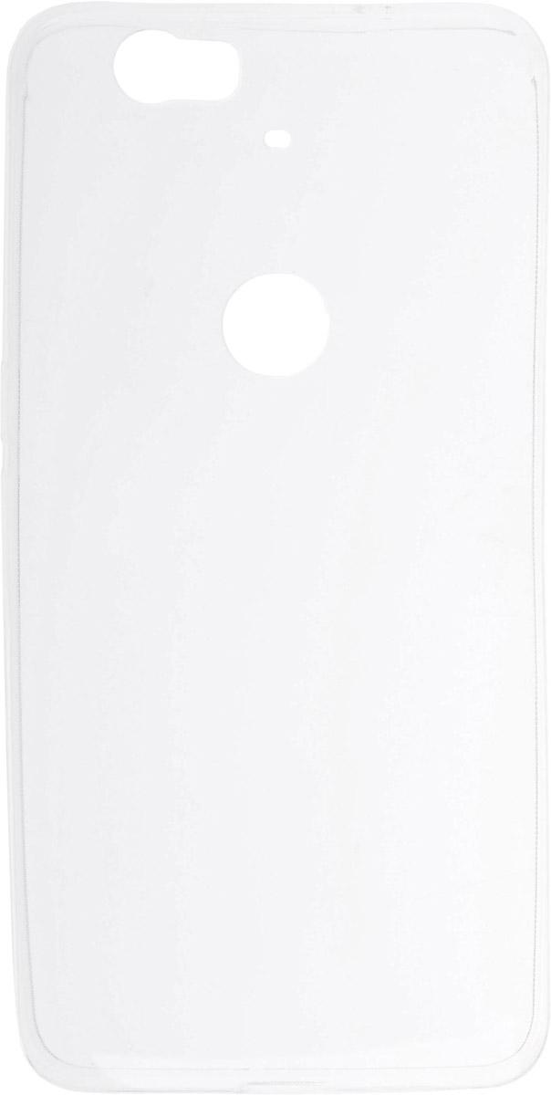 Skinbox Silicone Slim чехол для Huawei Nexus 6P, Transparent2000000089362Накладка выполнена из высококачественного силикона, плотно прилегает и не скользит в руках.