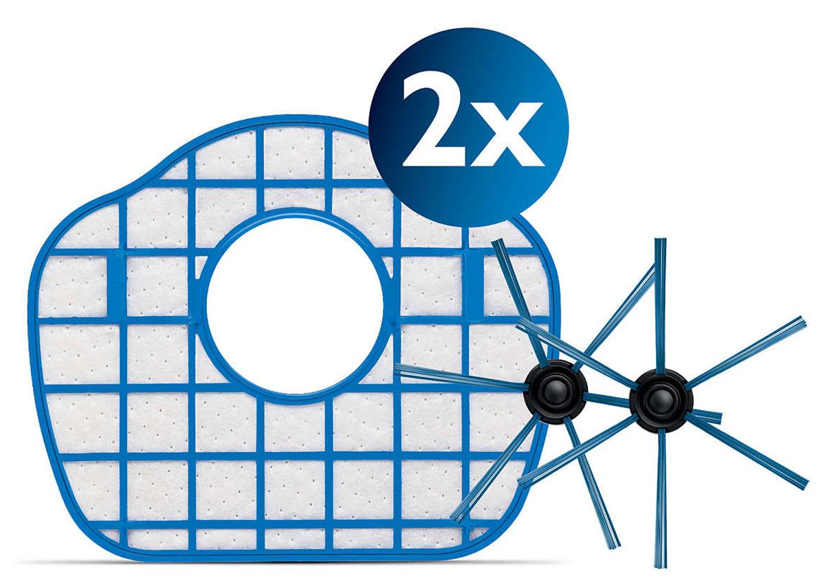 Philips FC8067/01 набор аксессуаров для робот-пылесосов SmartPro CompactFC8067/01Сменный комплект аксессуаров Philips FC8067/01, совместимых с роботами-пылесосами SmartPro Compact. В комплект входят 2 фильтра выходящего воздуха и 1 пара щеток. Аксессуары следует заменять для продления срока службы робота- пылесоса.