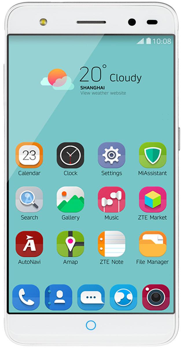 ZTE Blade V7 Lite, SilverZTE BLADE V7 LITE 4G SILVERZTE Blade V7 Lite - стильный и недорогой смартфон с большим экраном 5, сканером отпечатков пальцев и двумя SIM-картами. Благодаря четырехъядерному процессору MediaTek MT6735P с тактовой частотой 1 ГГц смартфон работает чрезвычайно шустро. Пользователю обеспечены быстрый запуск и уверенная работа практически любых приложений, а также плавное воспроизведение видео. Смартфон имеет 5-дюймовый дисплей с разрешением 1280х720 пикселей. Он достаточно яркий, не вынуждает владельца напрягать глаза, обеспечивает четкое, разборчивое изображение и экономно расходует энергию аккумулятора. ZTE Blade V7 Lite оснащен двумя камерами - основной и фронтальной. Основная предназначена для фото- и видеосъемки, для этого у нее есть 13-мегапиксельная матрица, автофокус и светодиодная вспышка, благодаря чему владелец может снимать фото и видео, которыми не стыдно поделиться с окружающими. Фронтальная 8- мегапиксельная камера предназначена для видеосвязи, также с...