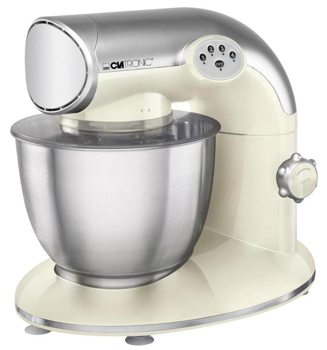 Clatronic KM 3632, Cream кухонный комбайнKM 3632 cremeКухонный комбайн Clatronic KM 3632 станет прекрасным помощником для любой хозяйки С ним вы сможете готовить невероятно вкусные и аппетитные блюда, при этом сократив время их приготовление. Основным назначением прибора является изготовление различных видов теста и кремов. Комбайн качественно и быстро перемешивает различные ингредиенты, что дает возможность избежать комочков. Clatronic KM 3632 снабжен чашей из нержавеющей стали и механической системой управления. 4 скорости замешивания обеспечат наилучший результат.