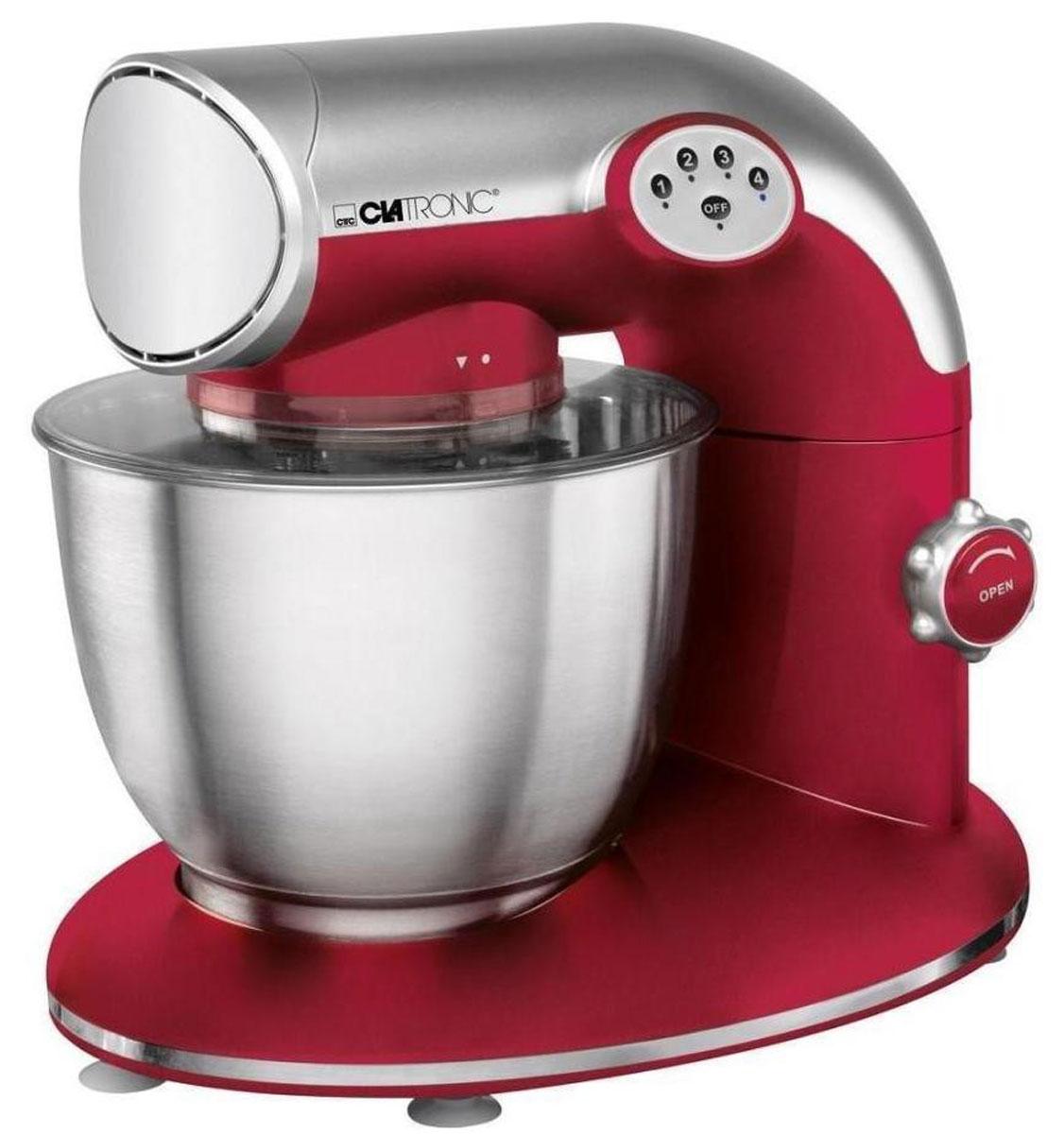 Clatronic KM 3632, Red кухонный комбайнKM 3632 rotКухонный комбайн Clatronic KM 3632 станет прекрасным помощником для любой хозяйки С ним вы сможете готовить невероятно вкусные и аппетитные блюда, при этом сократив время их приготовление. Основным назначением прибора является изготовление различных видов теста и кремов. Комбайн качественно и быстро перемешивает различные ингредиенты, что дает возможность избежать комочков. Clatronic KM 3632 снабжен чашей из нержавеющей стали и механической системой управления. 4 скорости замешивания обеспечат наилучший результат.
