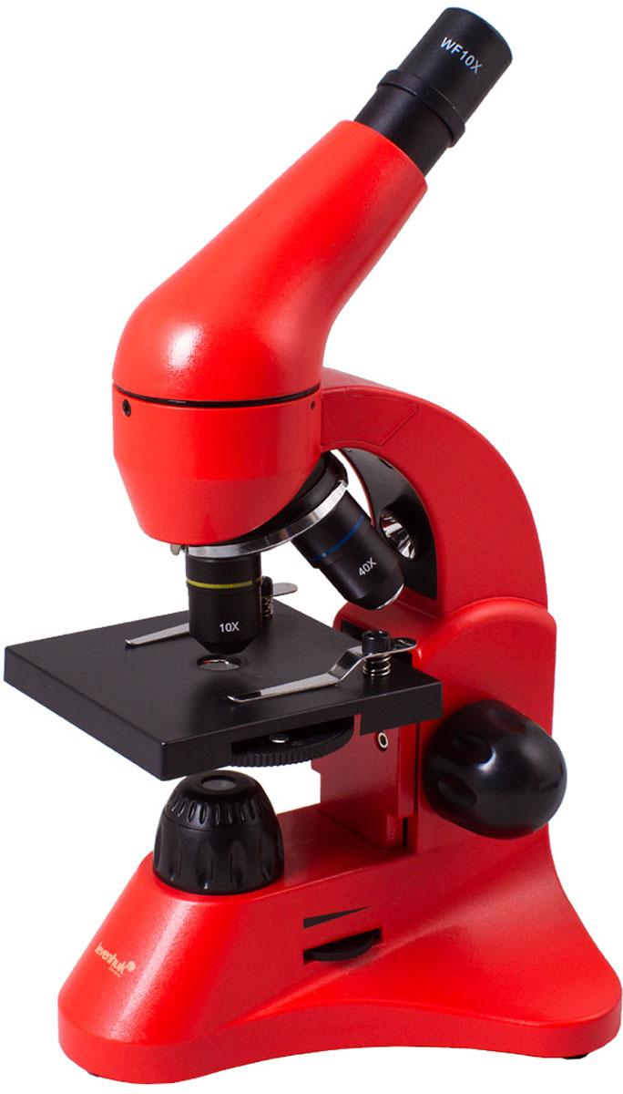 Levenhuk Rainbow 50L, Orange микроскоп XSP-45 plastic Pantone #179C