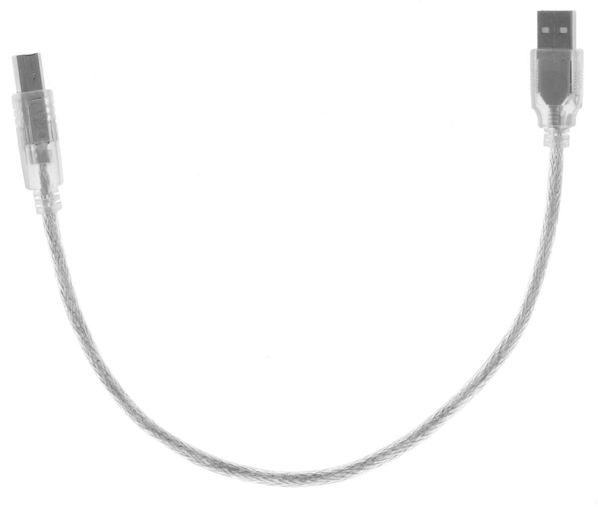 Greenconnect Premium GCR-UPC2M-BD2S, Clear кабель USB 0.3 мGCR-UPC2M-BD2S-0.3mКабель Greenconnect Premium GCR-UPC2M-BD2S используется для подключения к компьютеру различных устройств с разъемом USB тип B, например, принтер, камеры, сканер, МФУ. Надежно работает со всеми моделями HP. Экранирование кабеля позволит защитить сигнал при передаче от влияния внешних полей, способных создать помехи. Пропускная способность интерфейса: USB 2.0 до 480 Мбит/с Тип оболочки: PVC (ПВХ)
